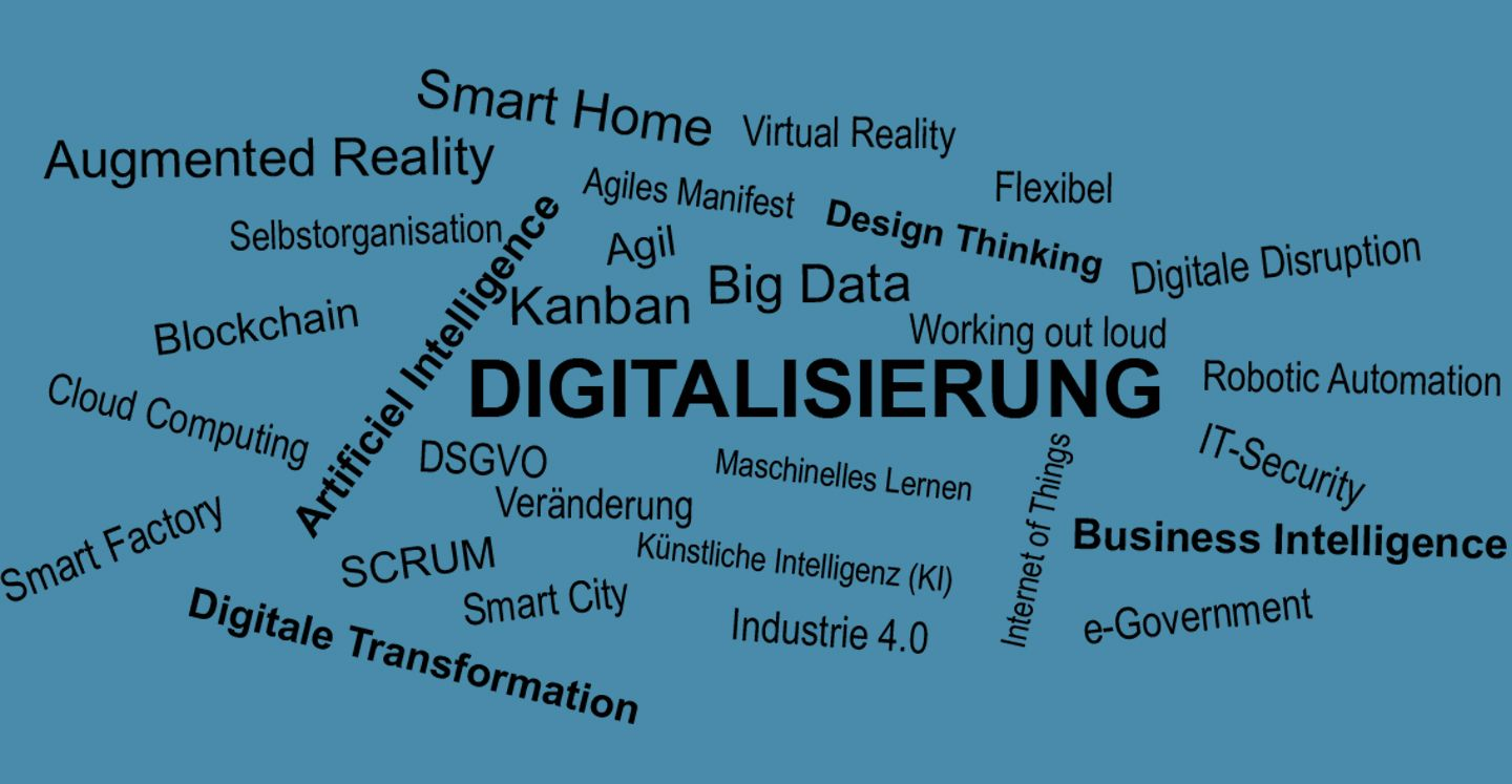 Digitalisierung Smart Home KI Künstliche Intelligenz Business Intelligence BI Digitale Transformation Virtual Reality Smart FactoryChange Managemenent